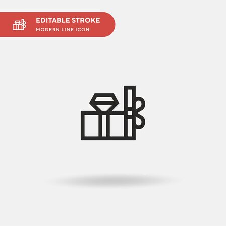 Gift Simple vector icon. Illustration symbol design template for web mobile UI element. Perfect color modern pictogram on editable stroke. Gift icons for your business project Vectores