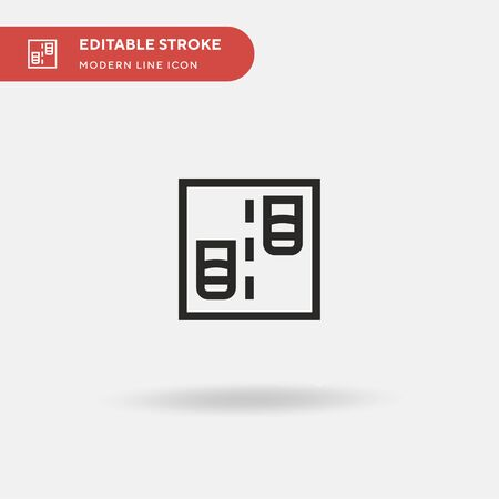 Traffic Simple vector icon. Illustration symbol design template for web mobile UI element. Perfect color modern pictogram on editable stroke. Traffic icons for your business project Illustration