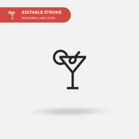 Martini Simple vector icon. Illustration symbol design template for web mobile UI element. Perfect color modern pictogram on editable stroke. Martini icons for your business project Ilustrace