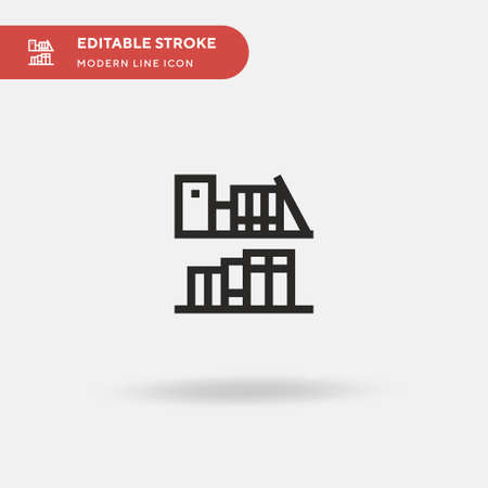 Bookshelf Simple vector icon. Illustration symbol design template for web mobile UI element. Perfect color modern pictogram on editable stroke. Bookshelf icons for your business project