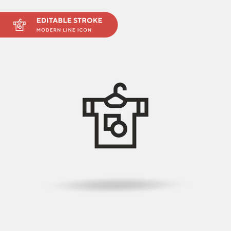 Tshirt Simple vector icon. Illustration symbol design template for web mobile UI element. Perfect color modern pictogram on editable stroke. Tshirt icons for your business project