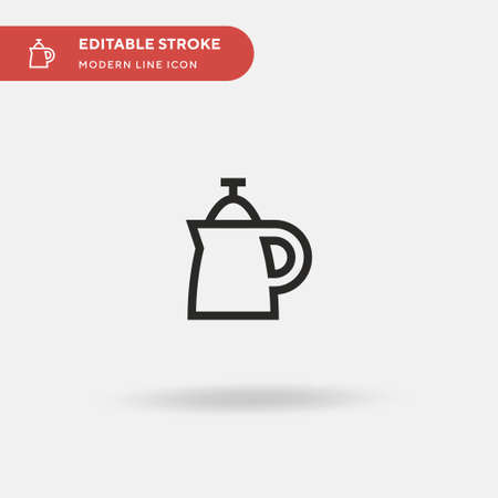 Percolator Simple vector icon. Illustration symbol design template for web mobile UI element. Perfect color modern pictogram on editable stroke. Percolator icons for your business project