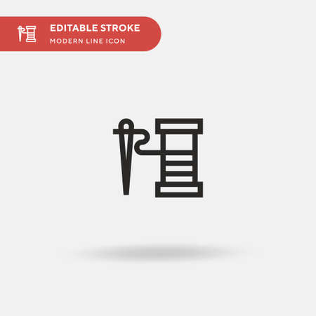 Thread Simple vector icon. Illustration symbol design template for web mobile UI element. Perfect color modern pictogram on editable stroke. Thread icons for your business project 向量圖像