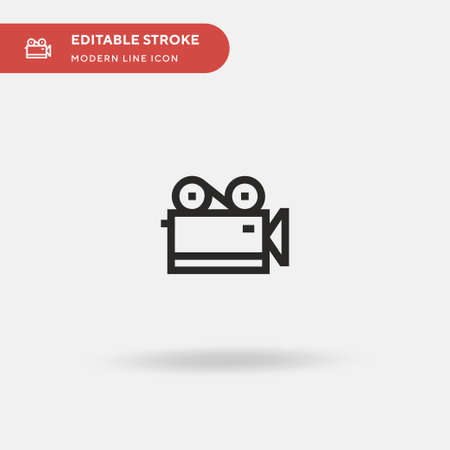 Old Camera Simple vector icon. Illustration symbol design template for web mobile UI element. Perfect color modern pictogram on editable stroke. Old Camera icons for your business project