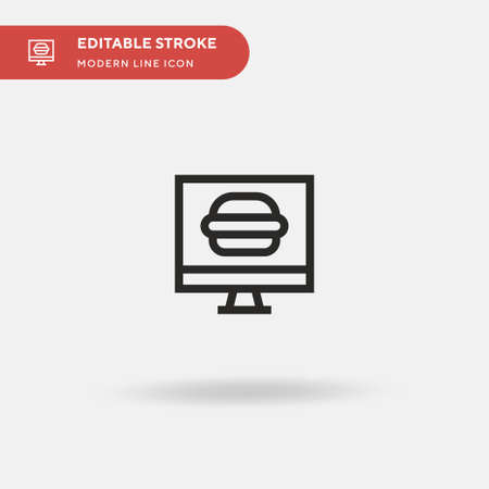 Online Order Simple vector icon. Illustration symbol design template for web mobile UI element. Perfect color modern pictogram on editable stroke. Online Order icons for your business project