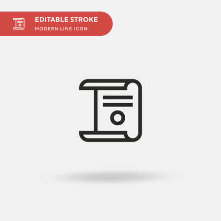 Diploma Simple vector icon. Illustration symbol design template for web mobile UI element. Perfect color modern pictogram on editable stroke. Diploma icons for your business project Ilustração