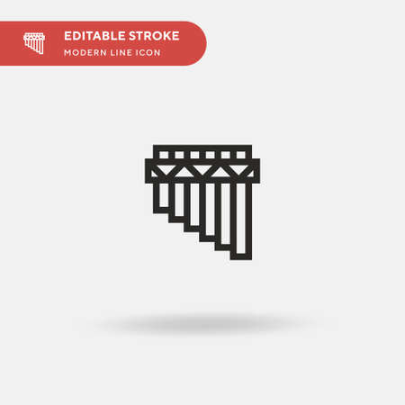 Flute Simple vector icon. Illustration symbol design template for web mobile UI element. Perfect color modern pictogram on editable stroke. Flute icons for your business project Stock fotó - 150584809