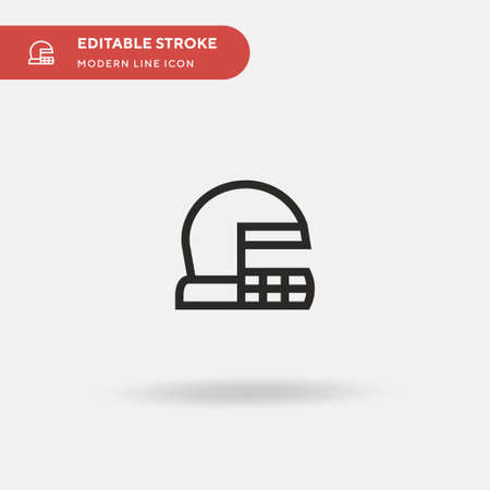 Baseball Helmet Simple vector icon. Illustration symbol design template for web mobile UI element. Perfect color modern pictogram on editable stroke. Baseball Helmet icons for your business project