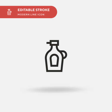 Syrup Simple vector icon. Illustration symbol design template for web mobile UI element. Perfect color modern pictogram on editable stroke. Syrup icons for your business project