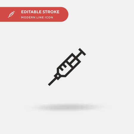 Syringe Simple vector icon. Illustration symbol design template for web mobile UI element. Perfect color modern pictogram on editable stroke. Syringe icons for your business project 向量圖像