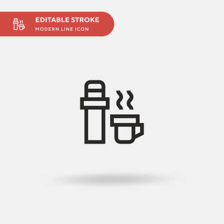 tumbler Simple vector icon. Illustration symbol design template for web mobile UI element. Perfect color modern pictogram on editable stroke. Ilustrace
