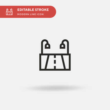 Highway Simple vector icon. Illustration symbol design template for web mobile UI element. Perfect color modern pictogram on editable stroke. Highway icons for your business project