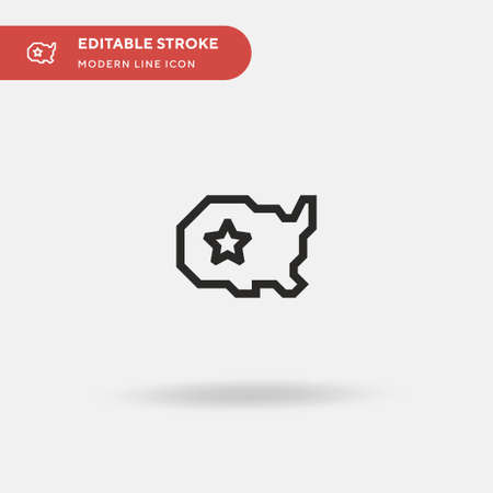 Usa Simple vector icon. Illustration symbol design template for web mobile UI element. Perfect color modern pictogram on editable stroke. Usa icons for your business project