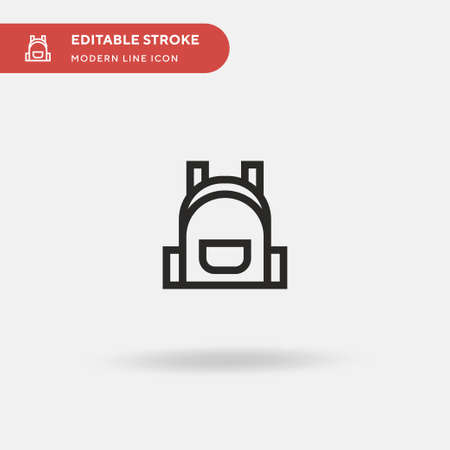 Backpack Simple vector icon. Illustration symbol design template for web mobile UI element. Perfect color modern pictogram on editable stroke. Backpack icons for your business project 向量圖像