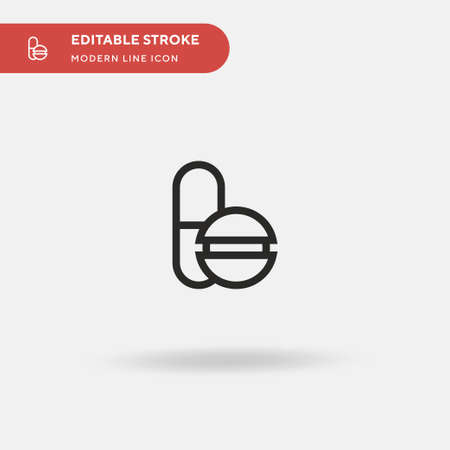 Pills Simple vector icon. Illustration symbol design template for web mobile UI element. Perfect color modern pictogram on editable stroke. Pills icons for your business project 向量圖像