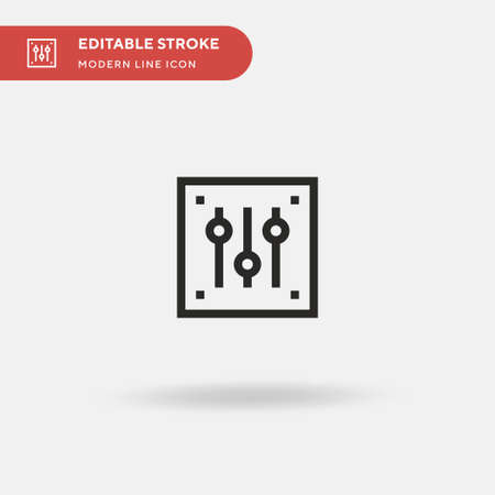 Sound Mixer Simple vector icon. Illustration symbol design template for web mobile UI element. Perfect color modern pictogram on editable stroke. Sound Mixer icons for your business project