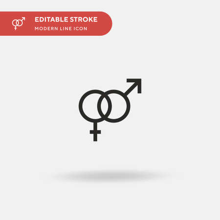Sex Addict Simple vector icon. Illustration symbol design template for web mobile UI element. Perfect color modern pictogram on editable stroke. Sex Addict icons for your business project Ilustração