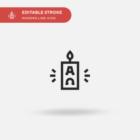 Easter Simple vector icon. Illustration symbol design template for web mobile UI element. Perfect color modern pictogram on editable stroke. Easter icons for your business project 일러스트