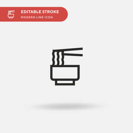 Noodles Simple vector icon. Illustration symbol design template for web mobile UI element. Perfect color modern pictogram on editable stroke. Noodles icons for your business project Çizim