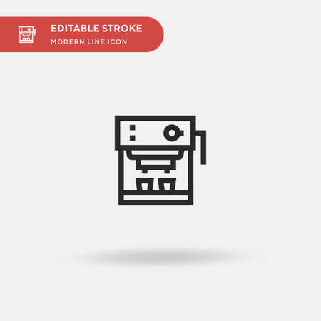 Coffee Maker Simple vector icon. Illustration symbol design template for web mobile UI element. Perfect color modern pictogram on editable stroke. Coffee Maker icons for your business project