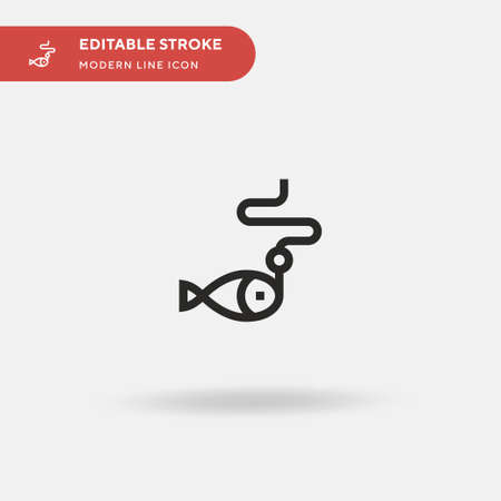 Fishing Simple vector icon. Illustration symbol design template for web mobile UI element. Perfect color modern pictogram on editable stroke. Fishing icons for your business project