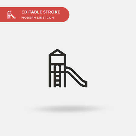 Playground Simple vector icon. Illustration symbol design template for web mobile UI element. Perfect color modern pictogram on editable stroke. Playground icons for your business project Illustration