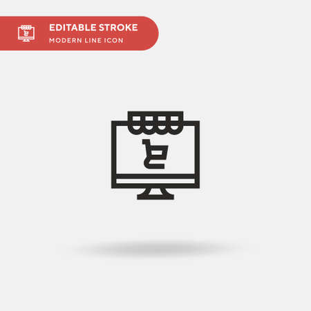 Online Shopping Simple vector icon. Illustration symbol design template for web mobile UI element. Perfect color modern pictogram on editable stroke. Online Shopping icons for your business project Vettoriali