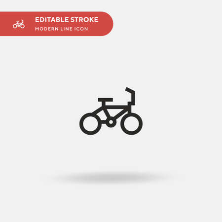 Bicycle Simple vector icon. Illustration symbol design template for web mobile UI element. Perfect color modern pictogram on editable stroke. Bicycle icons for your business project Ilustracja