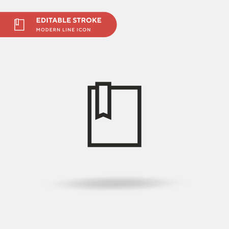 Bookmark Simple vector icon. Illustration symbol design template for web mobile UI element. Perfect color modern pictogram on editable stroke. Bookmark icons for your business project