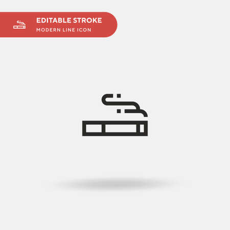 Cigarrete Simple vector icon. Illustration symbol design template for web mobile UI element. Perfect color modern pictogram on editable stroke. Cigarrete icons for your business project