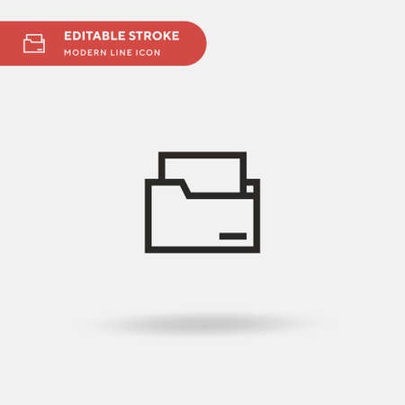 Folders Simple vector icon. Illustration symbol design template for web mobile UI element. Perfect color modern pictogram on editable stroke. Folders icons for your business project 写真素材 - 150631969