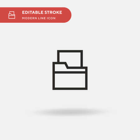 Folder Simple vector icon. Illustration symbol design template for web mobile UI element. Perfect color modern pictogram on editable stroke. Folder icons for your business project 写真素材 - 150637490