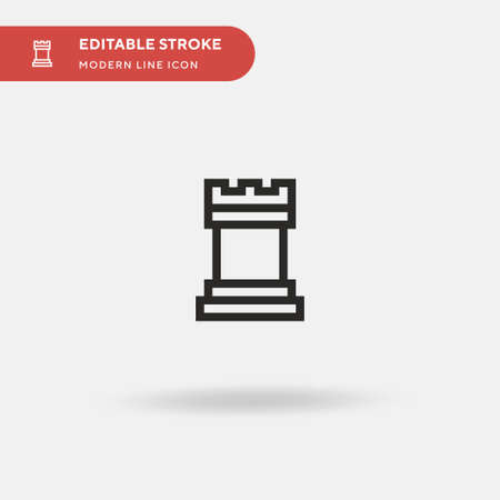 Chesspiece Simple vector icon. Illustration symbol design template for web mobile UI element. Perfect color modern pictogram on editable stroke. Chesspiece icons for your business project Ilustrace