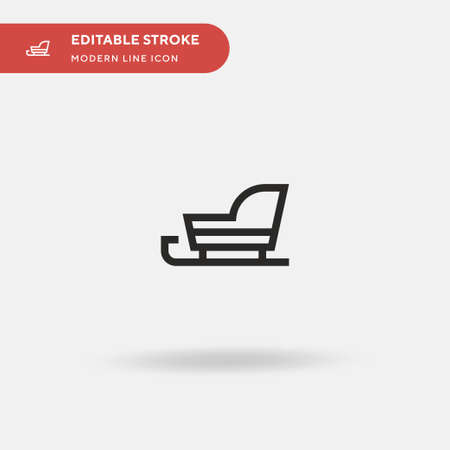 Sled Simple vector icon. Illustration symbol design template for web mobile UI element. Perfect color modern pictogram on editable stroke. Sled icons for your business project Vettoriali