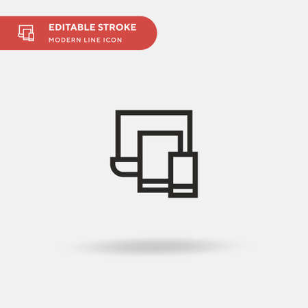 Devices Simple vector icon. Illustration symbol design template for web mobile UI element. Perfect color modern pictogram on editable stroke. Devices icons for your business project