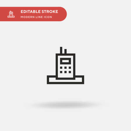 Mobile Phone Simple vector icon. Illustration symbol design template for web mobile UI element. Perfect color modern pictogram on editable stroke. Mobile Phone icons for your business project