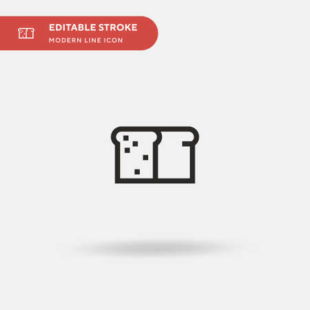 Bread Simple vector icon. Illustration symbol design template for web mobile UI element. Perfect color modern pictogram on editable stroke. Bread icons for your business project Çizim