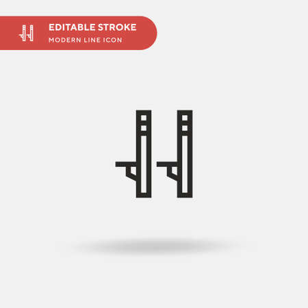 Stilts Simple vector icon. Illustration symbol design template for web mobile UI element. Perfect color modern pictogram on editable stroke. Stilts icons for your business project