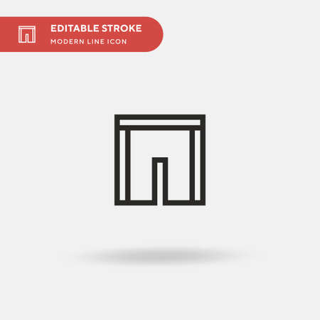 Short Simple vector icon. Illustration symbol design template for web mobile UI element. Perfect color modern pictogram on editable stroke. Short icons for your business project