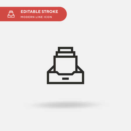Documents Simple vector icon. Illustration symbol design template for web mobile UI element. Perfect color modern pictogram on editable stroke. Documents icons for your business project Stock Illustratie