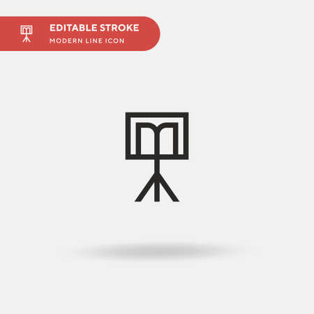 Stand Simple vector icon. Illustration symbol design template for web mobile UI element. Perfect color modern pictogram on editable stroke. Stand icons for your business project