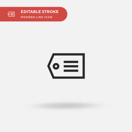 Tag Simple vector icon. Illustration symbol design template for web mobile UI element. Perfect color modern pictogram on editable stroke. Tag icons for your business project