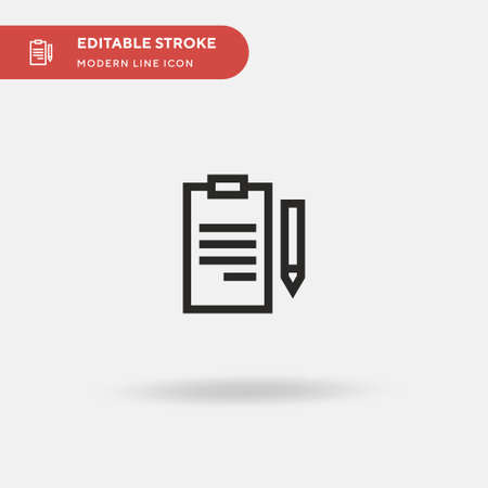 Clipboard Simple vector icon. Illustration symbol design template for web mobile UI element. Perfect color modern pictogram on editable stroke. Clipboard icons for your business project