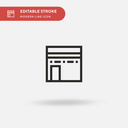 Kaaba Simple vector icon. Illustration symbol design template for web mobile UI element. Perfect color modern pictogram on editable stroke. Kaaba icons for your business project 矢量图像