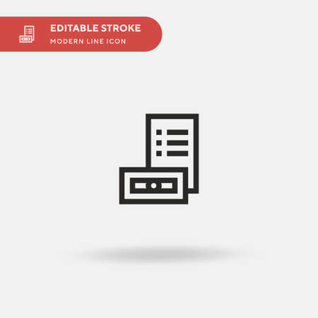 Tuition Simple vector icon. Illustration symbol design template for web mobile UI element. Perfect color modern pictogram on editable stroke. Tuition icons for your business project