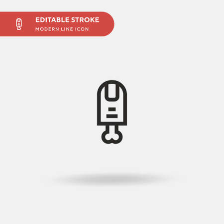 Finger Simple vector icon. Illustration symbol design template for web mobile UI element. Perfect color modern pictogram on editable stroke. Finger icons for your business project