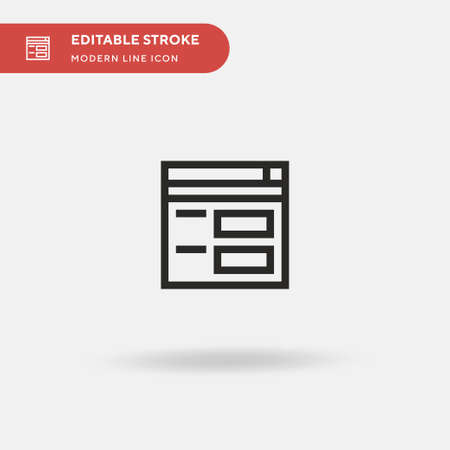 Form Simple vector icon. Illustration symbol design template for web mobile UI element. Perfect color modern pictogram on editable stroke. Form icons for your business project