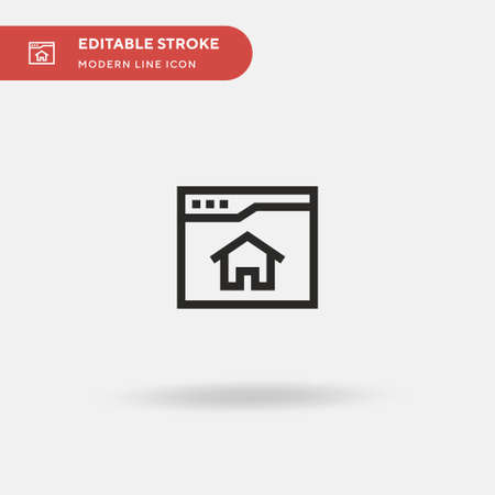 Home Page Simple vector icon. Illustration symbol design template for web mobile UI element. Perfect color modern pictogram on editable stroke. Home Page icons for your business project