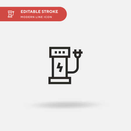 Energy Station Simple vector icon. Illustration symbol design template for web mobile UI element. Perfect color modern pictogram on editable stroke. Energy Station icons for your business project
