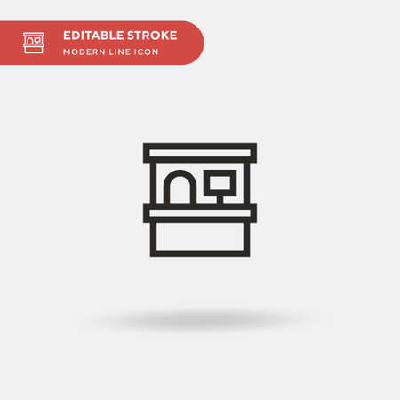 Cashier Simple vector icon. Illustration symbol design template for web mobile UI element. Perfect color modern pictogram on editable stroke. Cashier icons for your business project 向量圖像